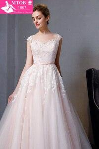 Image 4 - Gorgeous A line Lace Wedding Dresses Elegant Beads Pearls Sexy Backless dresses Luxury Bride Gown vestido de noiva MTOB1812