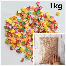 1KG 100000pcs Decor Fruit Polymer Clay Toy DIY Slime Accessories Decoration Jelly Mud Hand Gum Polyer Clay Kids Toys
