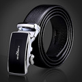 Seven7 Brand Men Belts Solid Classic Leather Belts Metal Auto Buckle Fashion Dress Belts High Quality Men Accessories 111P90010
