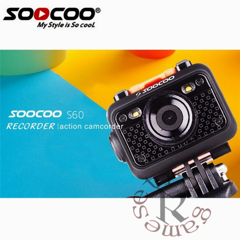 SOOCOO S60 HD 1080P WiFi Sports Action Camera 170 Degrees Wide Angle Lens 60m Waterproof 2.4G wireless remote control цена