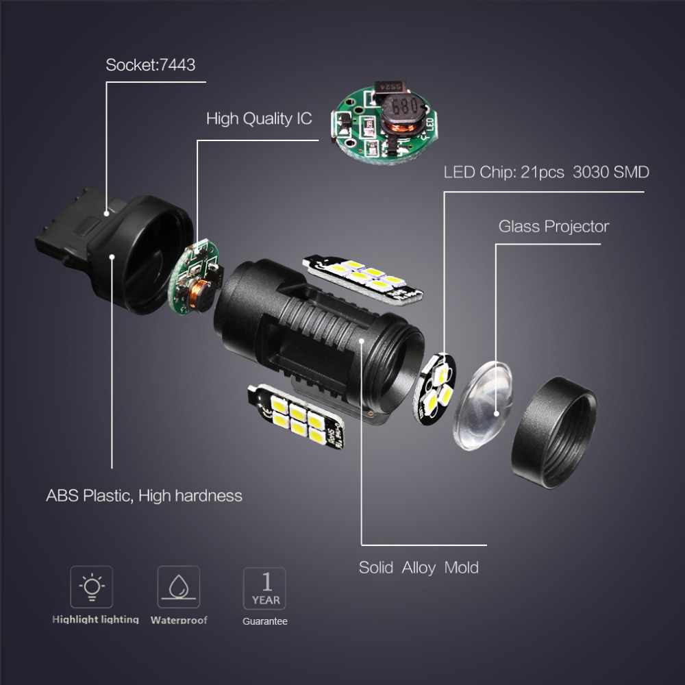 t20 w21w w21 5w led 7440 7443 srck led bulb auto lights. Black Bedroom Furniture Sets. Home Design Ideas