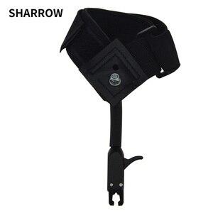 Image 1 - 1pc noir étrier libération chasse tir arc flèche accessoires poignet libération sangle utilisé pour arc composé