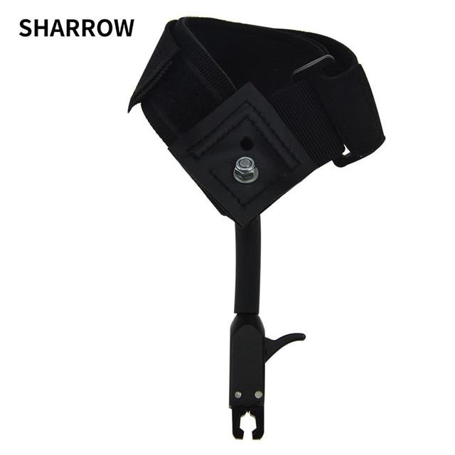 1pc noir étrier libération chasse tir arc flèche accessoires poignet libération sangle utilisé pour arc composé