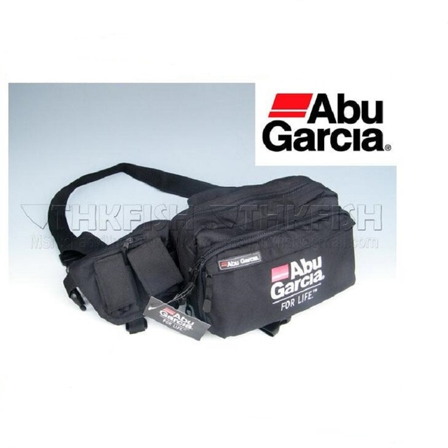 Hot!! 1PCS ABU GARCIA Waist Tackle Bag pockets Fishing Tackle Bags Fishing Bag fly lure Waterproof fabrics pockets