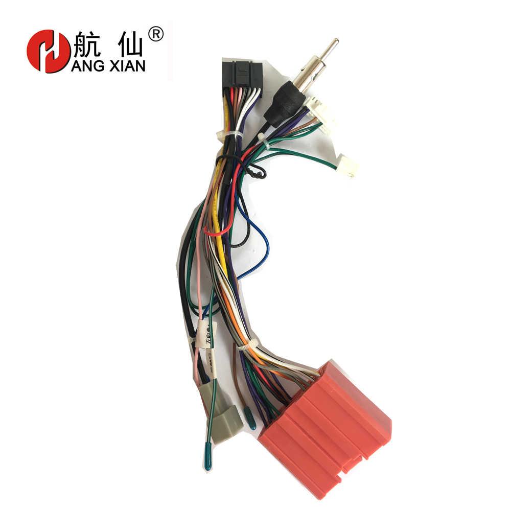 2 din Radio samochodowe żeńskiego zgodnego z normą ISO wtyczka radiowa zasilacz kable w wiązce specjalne dla Mazda 3 5 CX-5 uprząż kabel zasilający