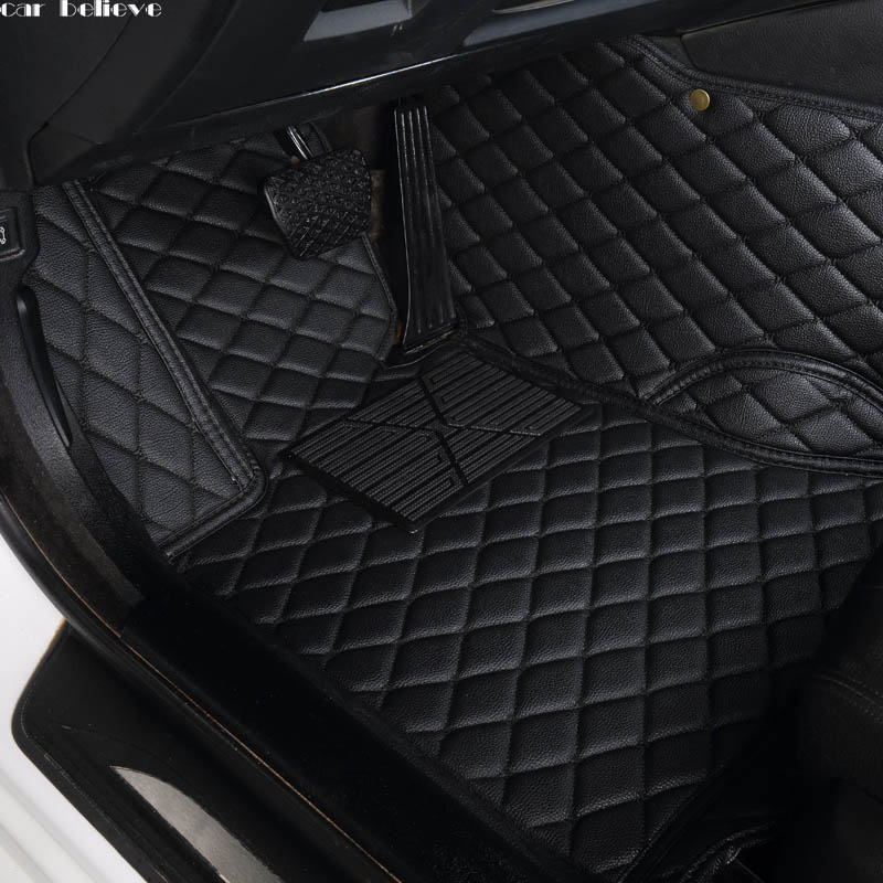 Car Believe Auto Car Floor Foot Mat For Bmw F10 X5 E70 E53 X4 F11 X3 E83 X1 F48 E90 X6 E71 F34 E70 E30 Waterproof Accessories(China)