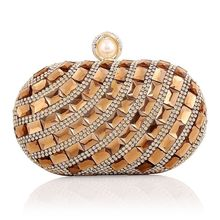 Women Fashion Luxurious Glass Diamonds Evening Bag Wedding Party Purse Brand Designer Clutch Messenger Bags