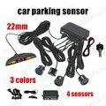 Car Parking Sensor 4 Sensors 22MM Buzzer 3Colors Monitor Reverse Radar Detector System Display sound alarm indicator