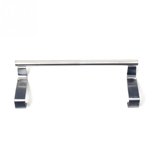 High Quality 2 Sizes Stainless Steel Home Bathroom Kitchen Hat Towel Hanger Over Door Hanging Rack Holder
