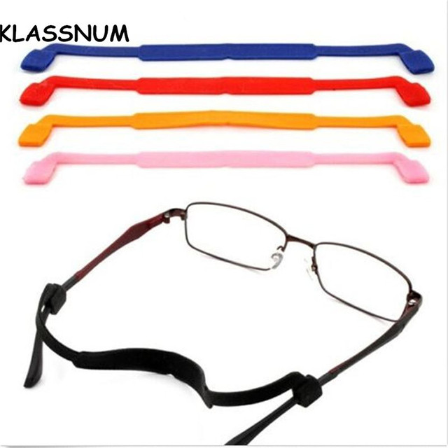 be74e17cb494 2017 Kids Sports Magnetic Silicone Eyeglasses Strap Children Glasses Safety Band  Strap Retainer Sunglasses Band Cord Holder
