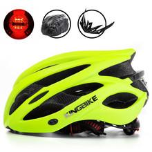 KINGBIKE 2018 kask rowerowy kolarstwo lampka na kask mężczyźni kobiety kaski rowerowe mtb kaski casco ciclismo casque velo road casco mtb tanie tanio (Dorośli) kobiety L-629 210G 20 Formowane integralnie kask Bicycle helmet road bike Mountain bike helmet Insect Net Helmet Equipped