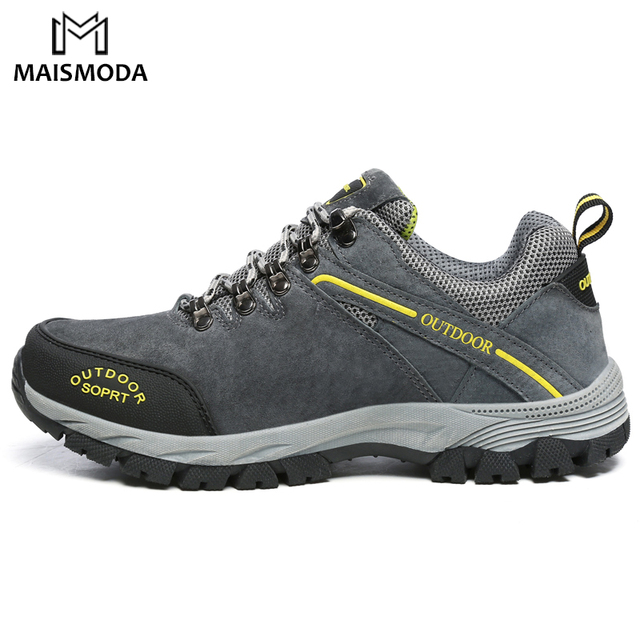 MAISMODA Men Hiking Shoes Waterproof Leather Shoes Plus Size 39 49 Climbing & Fishing Comfortable Outdoor Shoes