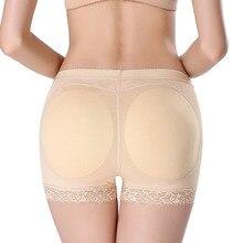 Acolchoado hip bundas lifter controle de mulheres sexy lace shaping espólio  calcinha sem costura feminina tamanho grande shaper . ca9c9926aaf