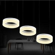 Original Design Led Round&Square Restaurant Pendant Lights Acrylic restaurant bar cafe indoor LED lighting lamp 90-265V light