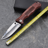 Hot Sale Survival Knife 9Cr13Mov Stainless Steel Blade Folding Tactical Knives Camping With Red Wood AAAA