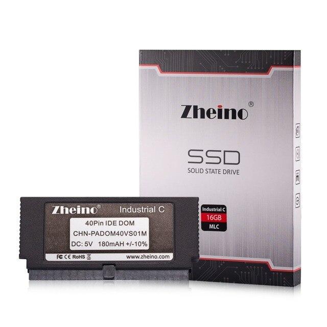 Zheino SSD IDE 40PIN PATA DOM MLC 16 ГБ Промышленные Диск На Модуле также Твердотельные Накопители Вертикальная + в Исполнении Socket