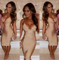 3 Colors New Arrival Celebrity Black Nude Long Bandage Dress Elegant Evening Sexy Dress
