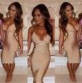 3 cores chegada nova celebridade nua longo Bandage vestido de noite elegante vestido Sexy