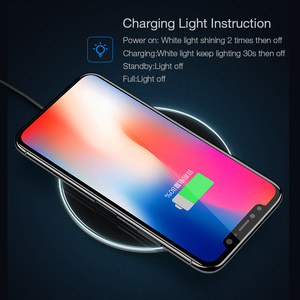 Image 5 - 10W Qi wireless charger for iPhone X XS Max XR 8 plus,USAMS wireless charging pad fast charge for Samsung S8 S9 plus note 9 8 s7