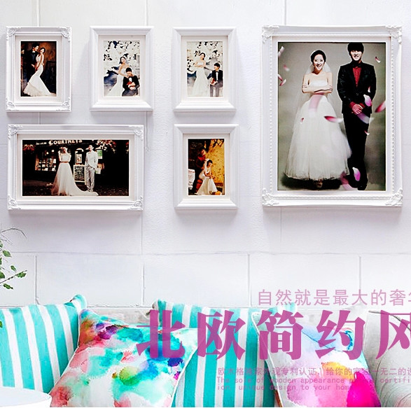 Newarrival wedding frame picture photowhite frame wall newarrival wedding frame picture photowhite frame wall combinationdiy decoration frames for living junglespirit Image collections