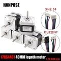 Free shipping 5pcs 4-lead Nema17 40mm Stepper Motor 42 motor Nema 17 motor 1.7A (17HS4401) 3D printer motor and CNC XYZ