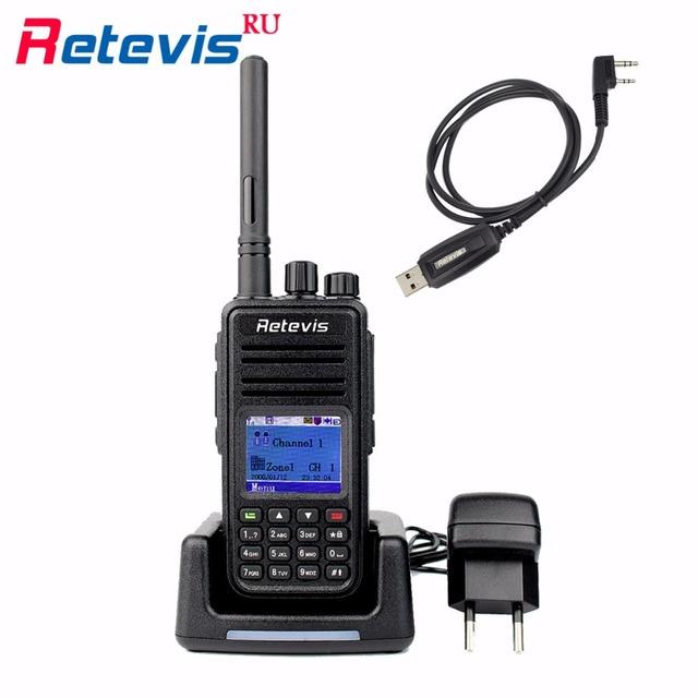 Profissional rádio dmr digital walkie talkie retevis uhf 400-480 mhz 5 w 1000ch rt3 prioridade de verificação dtmf codificado two way radio set