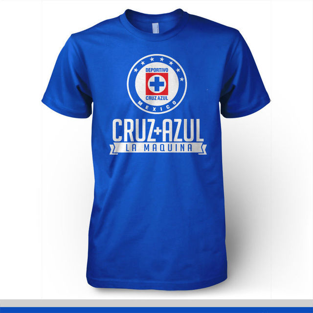 201c6b79c4c Cruz Azul La Maquina T Shirt Camiseta Playera Mexico Soccer Futbol FMF Liga  MX Short Sleeve Fashion Summer Printing Casual