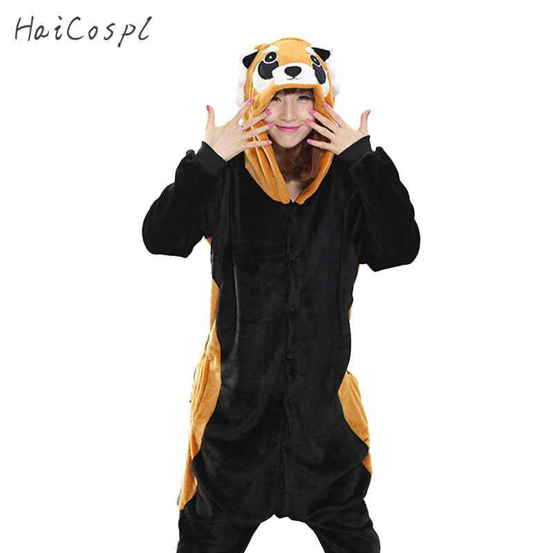 Кигуруми пижама-енот костюм животного косплэй костюм для женщин взрослых  прекрасный Забавный Onesie пижамы черный 8044e659256b2