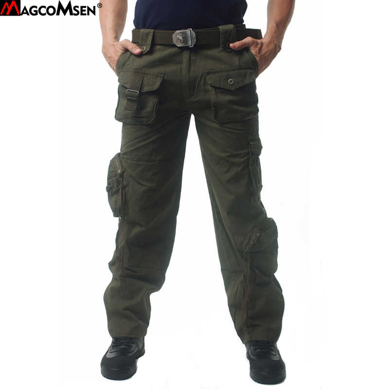 0b5255c4b73f MAGCOMSEN Men Pants Cotton Casual Camouflage Military Pants Men Tactical  Cargo Pants Long Trousers Men Brand