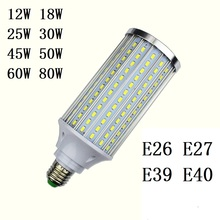 3pcs Lampada 5730 SMD LED Lamps E26 E27 E39 E40 12W 18W 25W 30W 45W 50W 60W 80W 110V 220V Led bulb Light High Luminous Spotlight стоимость