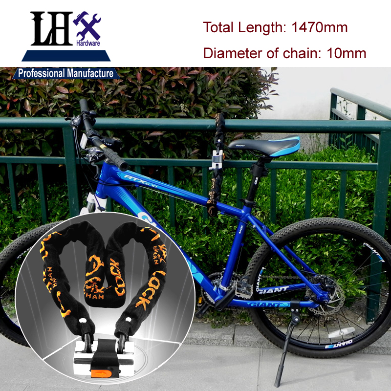 LHX DMMS53 1470mm Length Manganese Steel Chain Lock Resistance of 12 Tons Hydraulic Pliers for Gate Boxed Or Doors Bicycle стоимость