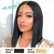 Ali Grace Short Blunt Cut Bob Wig For Black Women 613 Bob Wig Brazilian Remy Hair Short Lace Front Human Hair Wigs(China)