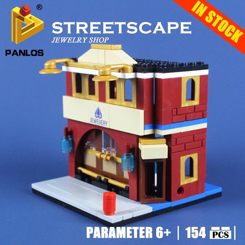 Model Building Toys hobbies STREETSCA JEWELRY SHOP 154PCS Blocks Educational DIY Bricks kids Compatible With lego city Creative