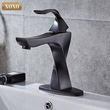 XOXO смесители для раковины, латунные краны, современный с одной ручкой, смеситель для ванной комнаты, смесители для горячей и холодной воды, кран для умывальника 20065H