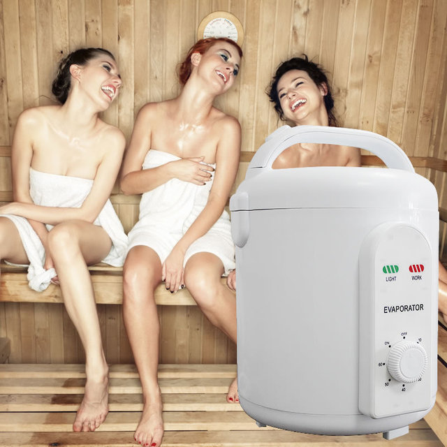NEW !!steam sauna box Powerful 1000W 1.8L remote controlled steam generator, stainless steel steaming vessel