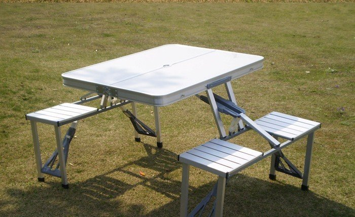 outdoor Suitcase type folding table and chairs set 11kg ... & freesgipping outdoor Suitcase type folding table and chairs set ...