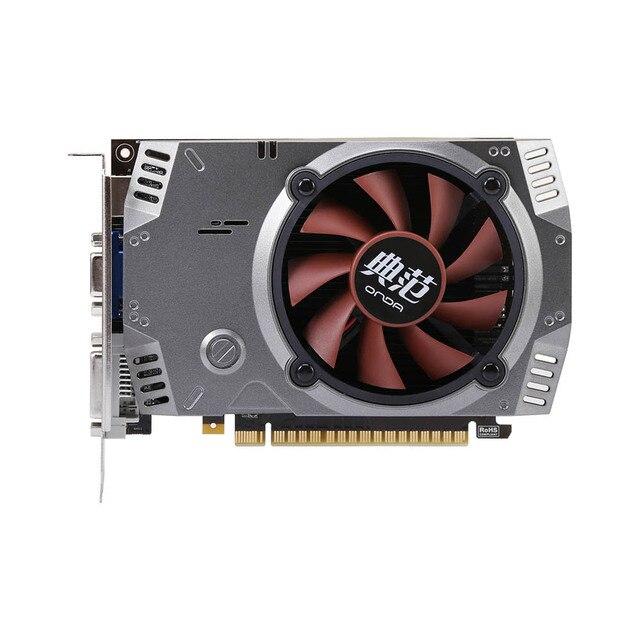 Onda NVIDIA GeForce GT 730 GPU 2GB 64bit 2048MB Gaming DDR5 PCI-E 2.0 Video Graphics Card DVI+HDMI+VGA Port with One Cooling Fan
