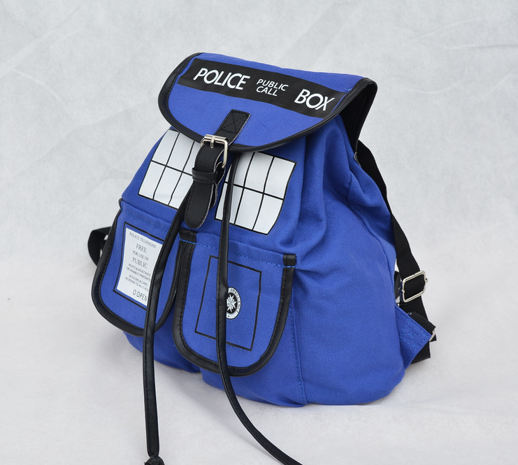 Dr. Who Tardis Backpack Women Buckle Slouch Doctor Who Tardis Bag Backpacks School Bags for Teenagers Children Kids