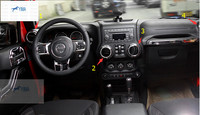 For Jeep Wrangler 2011 - 2015 ABS Front + Central Control Air Vent Outlet Cover Trim Modling Garnish 4 pcs / set