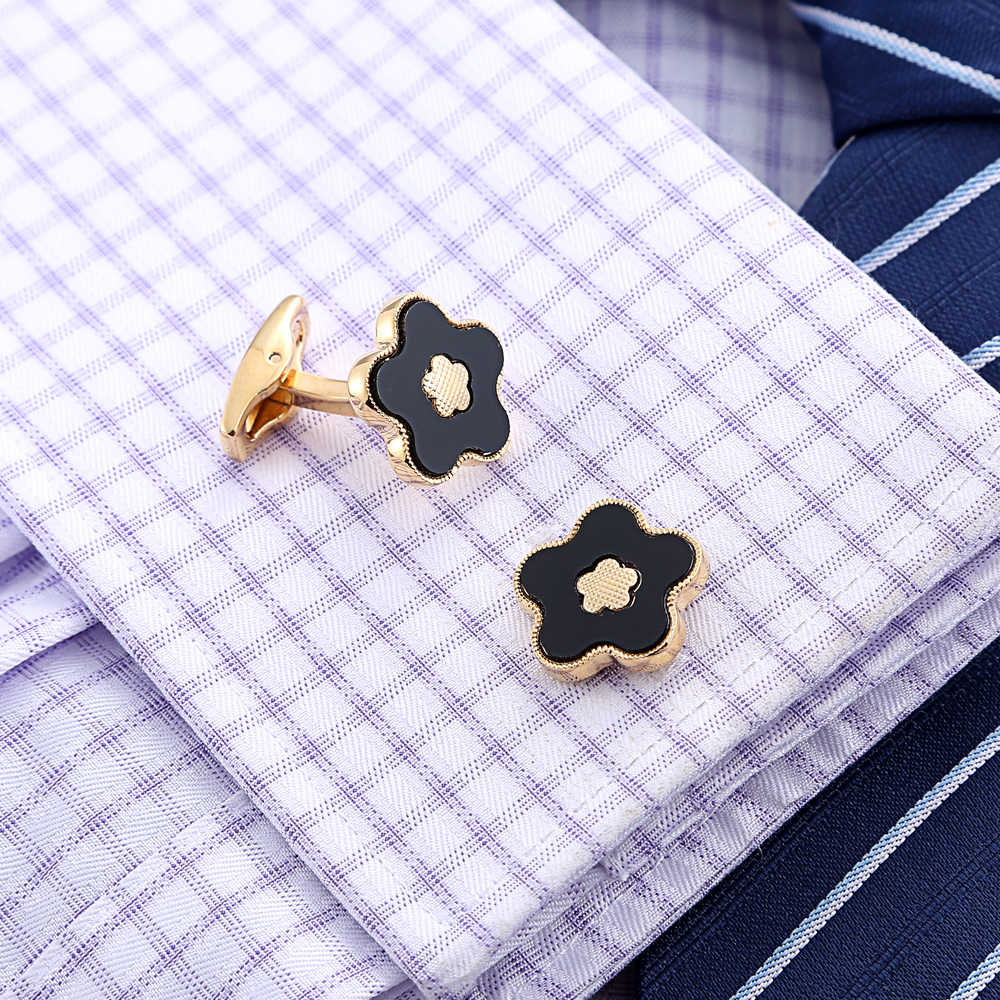 QiQiWu золотые запонки мужские s Свадебные Роскошные вечерние запонки для французских манжет мужские цветочные высококачественные запонки звенья рождественские подарки манжеты