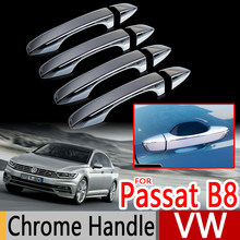 Voor VW Passat B8 Chrome Handle Covers Trim Set van 4 Volkswagen MK8 2016 Sedan Wagon Variant Auto-accessoires Stickers auto Styling(China)