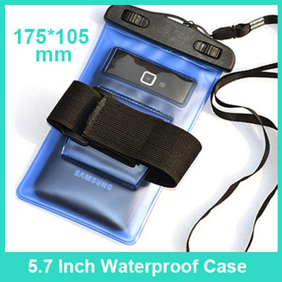 "5.7"" PVC Waterproof bag Underwater Pouch Case for Phones inc iPhone/Samsung"