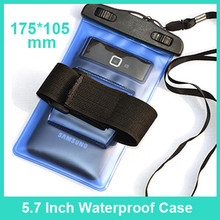 "5.7"" PVC Waterproof Bag Underwater Pouch Case For iphone 6 Samsung Galaxy Note"