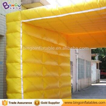 Benutzerdefinierte Zelte Mit Logos | Hohe Qualität PVC-Plane Aufblasbaren Würfel Zelt Mit Logo Für Verkauf Customized 4X4X4 M Aufblasbare Kiosk Zelt Für Parkplatz