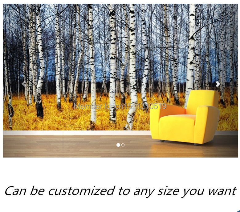 Free shipping custom murals Yellow Forest Floor Wall Mural bedroom, living room TV backdrop wallpaper free shipping england wind red white blue fashion backdrop tv backdrop bedroom living room mural wallpaper