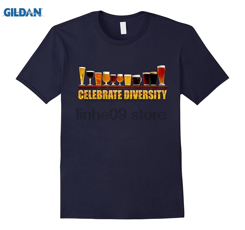 GILDAN Celebrate Diversity T Shirt for Beer Lover Womens T-shirt