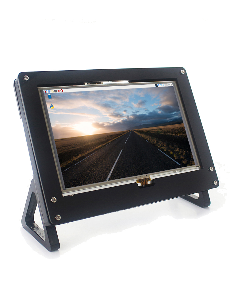 Longruner 7 Inch Raspberry Pi Touch Screen 1024X600 LCD Display HDMI Monitor with Protective Case Stand