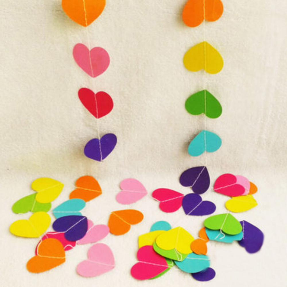 4 m Kleurrijke Hart Papier Bruiloft Decoratie Guirlande Handgemaakte - Feestversiering en feestartikelen - Foto 3