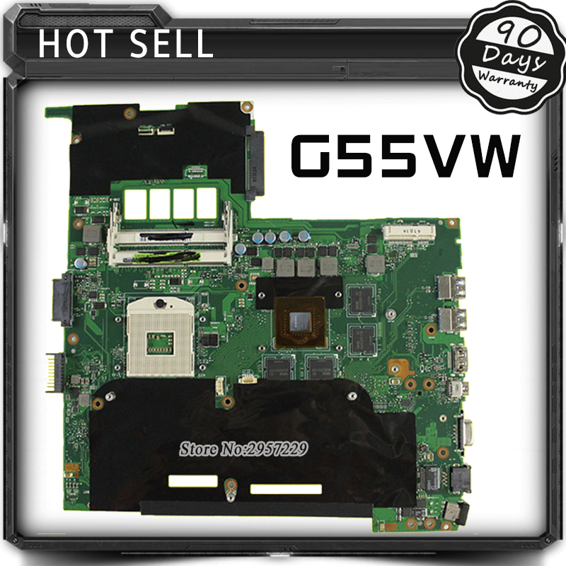 For ASUS G55VW motherboard Non-Integrated G55VW mainboard 4 SLOTS REV2.0 100% tested for asus x550lc laptop motherboard x550lc rev2 0 i3 4010u graphic gt720m non integrated mainboard 100