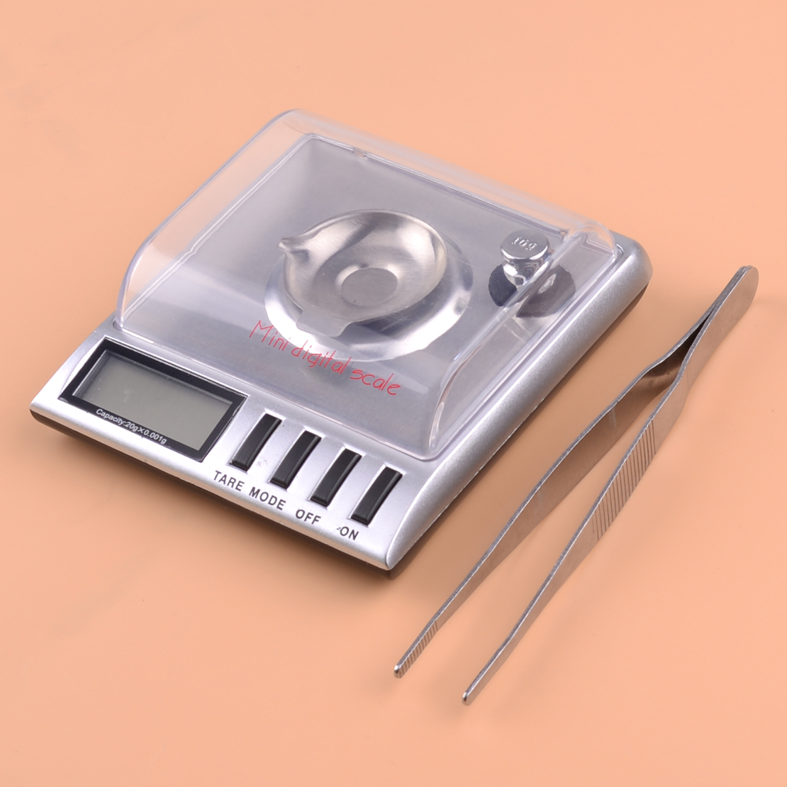 LETAOSK 20g x 0.001g 1mg LCD Digital Jewelry Diamond Scale 100 x 0.005ct  Electronic Digital Precision Weight Balance